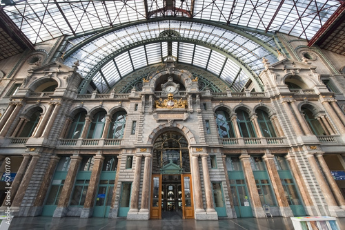 Railway Station in Antwerpen, Belgium