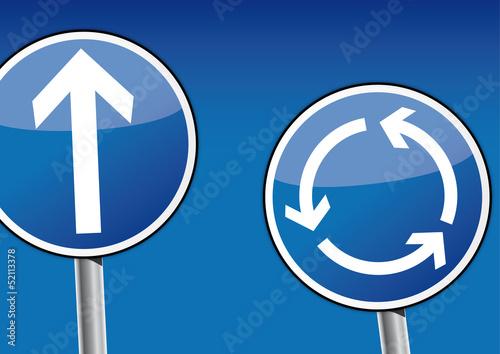 kreisverkehr schild kreislauf auswählen möglichkeiten