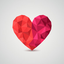 Origami Heart. Vector Illustra...