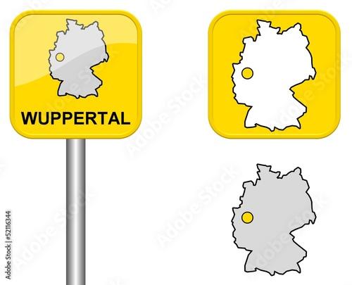 Wuppertal Ortsschild Button Und Deutschlandkarte Buy This