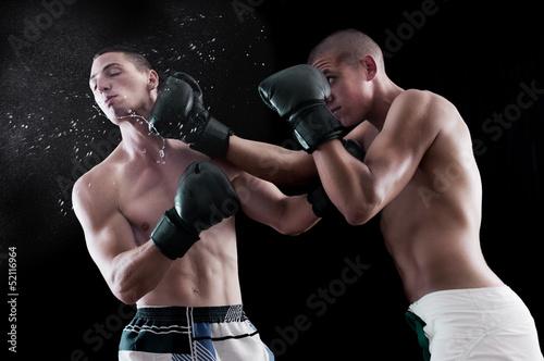 Láminas  Two man boxing
