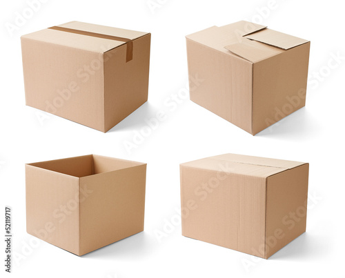 Cuadros en Lienzo cardboard box package moving transportation delivery