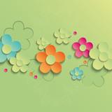 Colorful floral background. Vector illustration