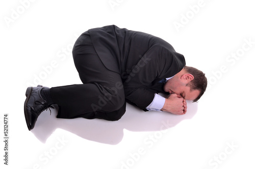 Fotografia, Obraz  businessman in fetal position
