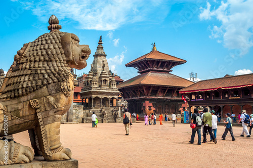 Deurstickers Nepal At Durbar Square in Bhaktapur