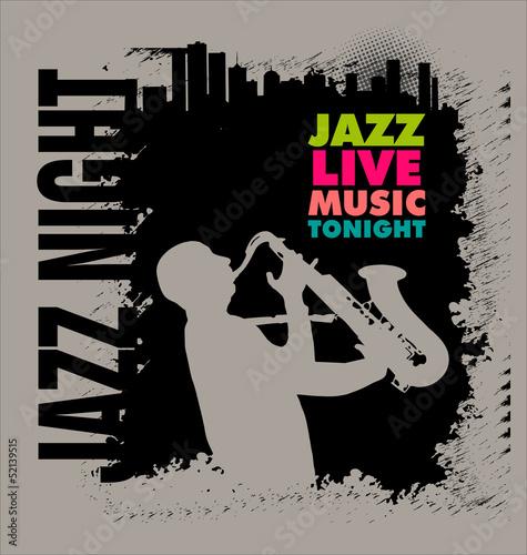Photo  Jazz concert poster