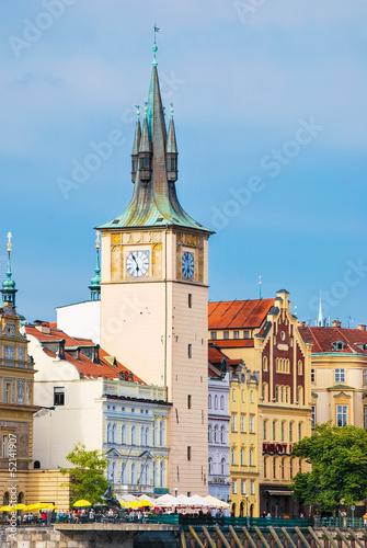 In de dag Aziatische Plekken Clock tower in Prague