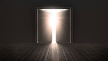 Doors Opening To Show A Bright...