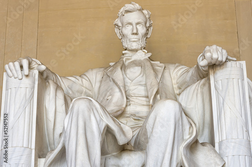Foto  Abraham Lincoln statue at Washington DC Memorial
