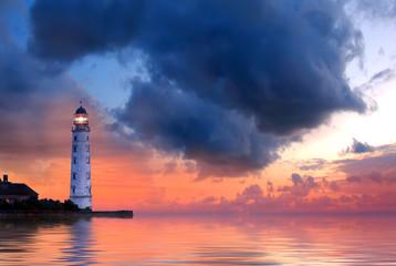 Panel Szklany Do salonu Lighthouse