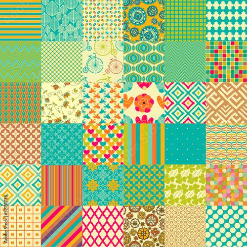 Naklejka na meble Set of seamless childish patterns