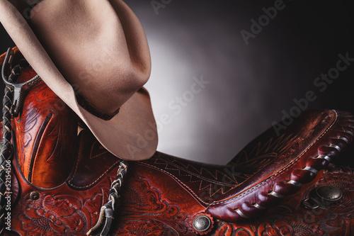 Photo  horse saddle