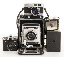 Bunch Of Old Film Cameras