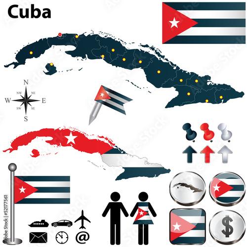 Photo  Map of Cuba