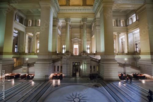 Foto op Canvas Brussel Bruxelles, Belgium - April, 4 2013: Palace of Justice (Palais de