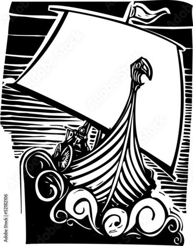 Photo  Viking Longship Sailing