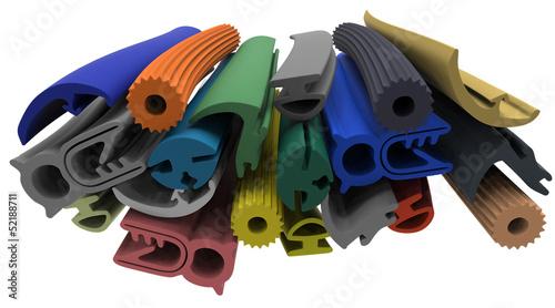 Fotografía  Extruded rubber profile (sealing)