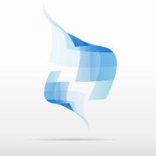 Blue Pixel Squares  Vector Icon Design Logo