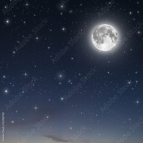 Fotobehang Volle maan full moon background