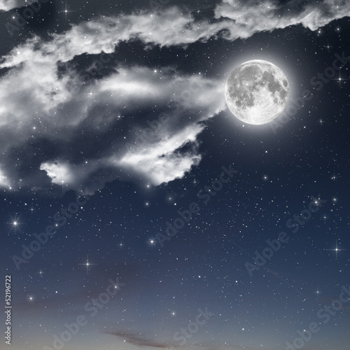 In de dag Volle maan full moon background