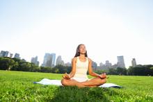 Meditating Woman In Meditation...
