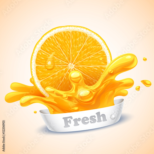 Juicy orange Fototapet
