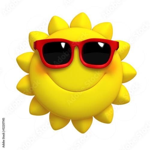 Poster de jardin Doux monstres 3d cartoon cute sun