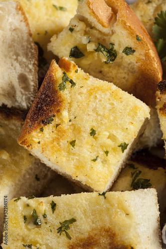 Foto op Aluminium Vlees Homemade Crunchy Garlic Bread