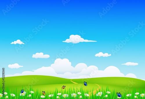 Foto op Aluminium Blauw nature landscape