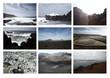 Lanzarote Collage, Meer, Landschaft und Berge
