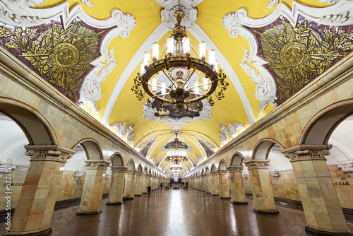 The metro station Komsomolskaya in Moscow, Russia - 52231536