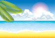 summer beach vector background