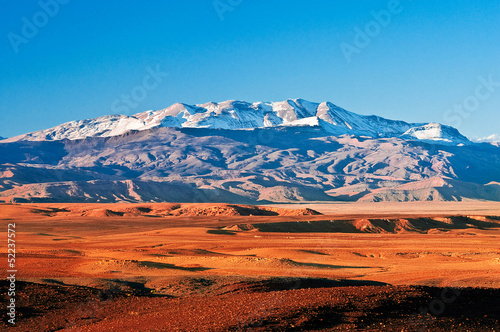 Deurstickers Marokko Mountain landscape in the north of Africa, Morocco