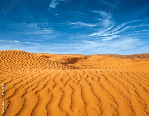 Photo Desert of North Africa, sandy barkhans