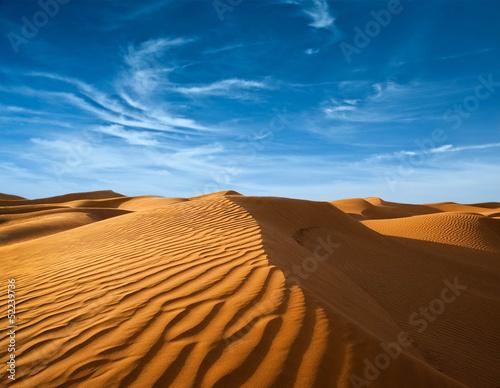 Desert of North Africa, sandy barkhans Canvas Print