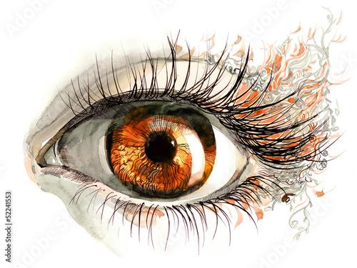 Obraz human eye - fototapety do salonu