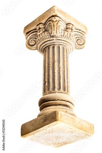 Foto op Aluminium Bedehuis Column on white background