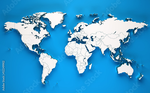 3d world soft shadows - Blue background