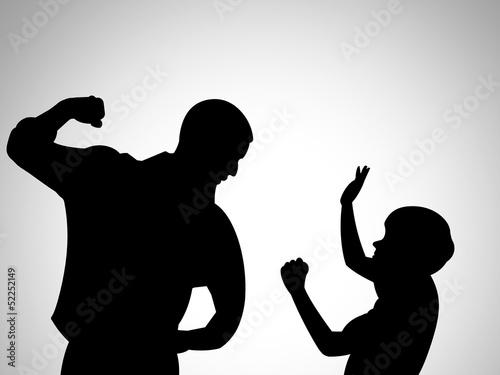 Ilustração - Violência contra crianças Wallpaper Mural