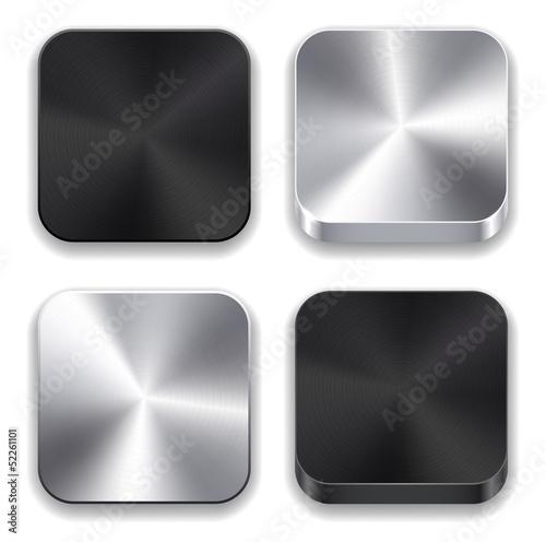Poster  Metallische App-Symbole.