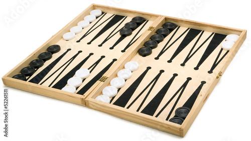 Leinwand Poster Isolated Backgammon Set