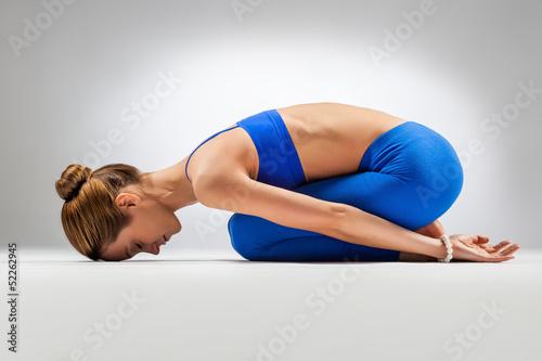 Stampa su Tela  the yoga woman