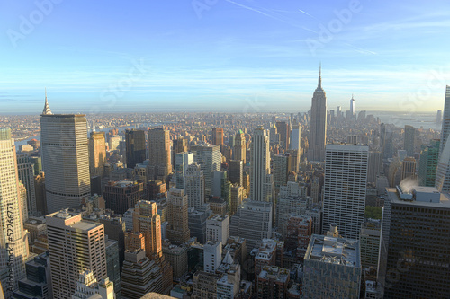 Fotografie, Obraz  Manhattan Midtown and Empire State Building, New York City