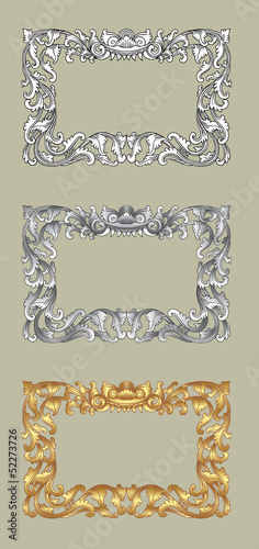Balinese Frame Ornament 1a