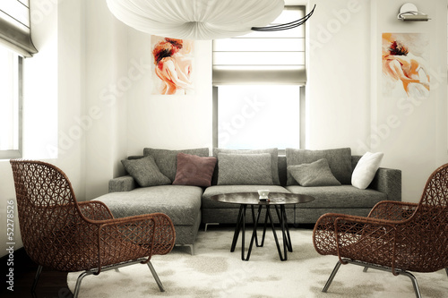 Papiers peints Retro Contemporary design furnishing