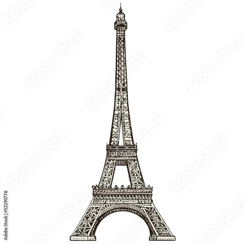 Foto op Aluminium Eiffeltoren La tour Eiffel