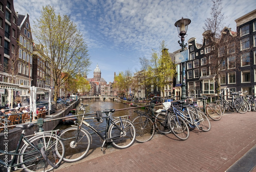 View of spring Amsterdam. The Netherlands #52291571