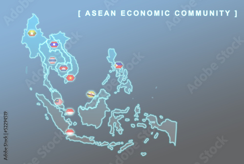 Foto  South East Asia countries that will be member of AEC