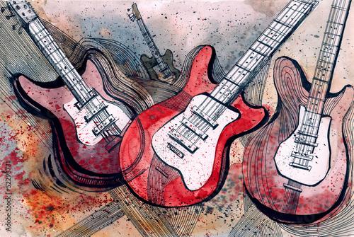 Obrazy pop art muzyka-gitarowa