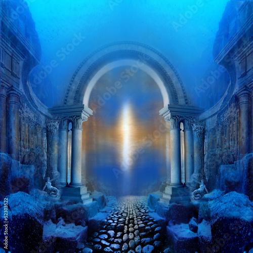 Way to Atlantis Canvas Print